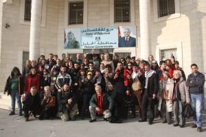 foto di gruppo in palestina