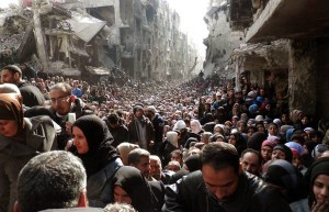 Food distribution in Damascus