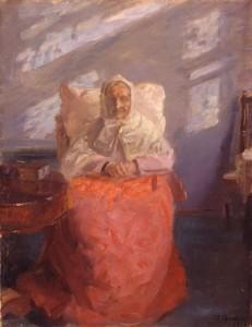 "Anna Ancher, ""Anna Edvig Brondum nella stanza blu"", 1913"