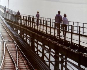 il lungo molo all'estuario