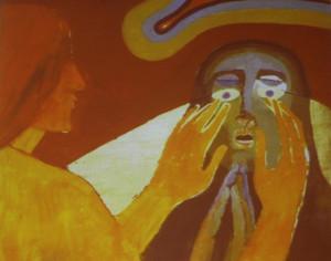 """""""Il miracolo del cieco guarito"""" di Arcabas"""