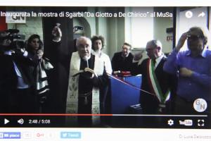 """l'inaugurazione della mostra di Sgarbi al MUSA, su """"I tesori nascosti"""""""