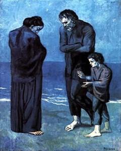 """Picasso, """"Poveri in riva al mare"""""""