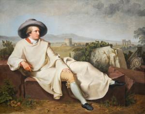 """Johann Heinrich Wilhelm Tischbein, """"Goethe nella campagna romana"""""""