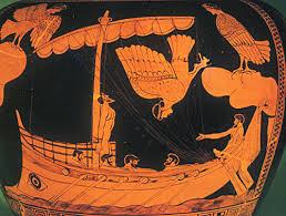 Odisseo e le sirene. Decorazione di un vaso ateniese, tardo sec. VII, British Museum