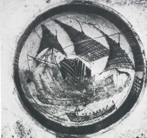 Ceramica raffigurante guerra pisano-genovese